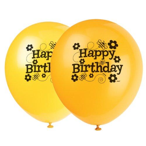 Latex Bumble Bee Birthday Balloons