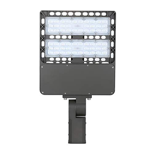 Gopretty 100W Shoebox Pole Light,(300W HID/HPS Replacement),14000 Lumen,Free Photocell Included,Parking Lot Flood Light,6000K Day Light,UL & DLC & CE & ROHS