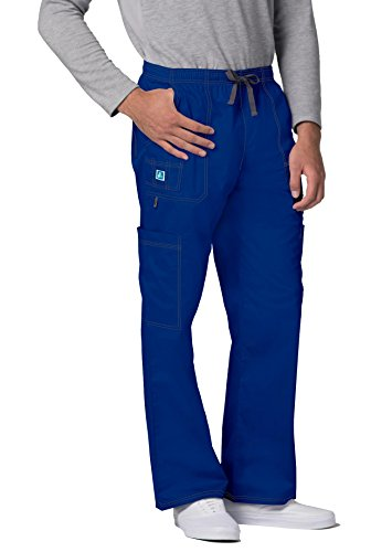- ADAR UNIFORMS Adar Pop-Stretch Mens 7-Pocket Cargo Pants - 3107 - Royal Blue - S