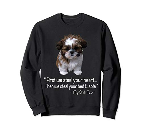 Tiny dog gift men women - Shih tzu Costume funny t-shirt Sweatshirt