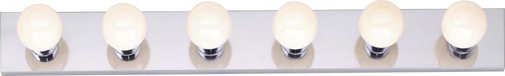 Nuvo SF77/194 Six Light Vanity Strip, Polished Chrome, 36-Inch