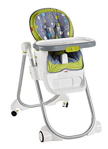 Fisher-Price 4-in-1 Total Clean High Chair, Green/Gray by Fisher-Price (Image #1)