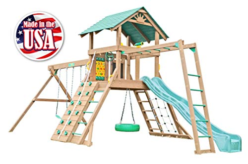 (Creative Playthings (Classic Series) Northbridge Deluxe II Swing Set Made in The USA)