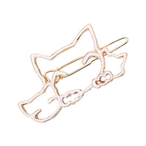 Simdoc Minimalist Hollow Geometric Alloy Hairpin Clamp Hollow Cat Hair Clip Metal Bobby Pins DIY Styling Barrette Gift For For Women Girls ()