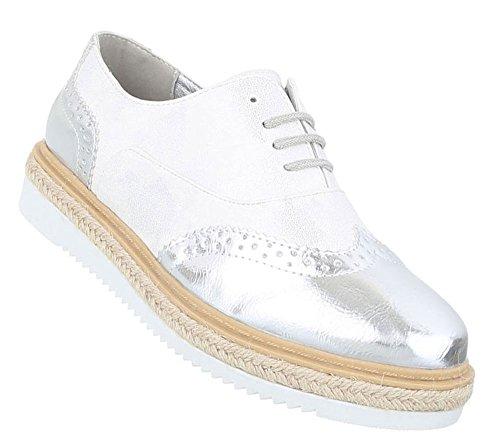 Damen Halbschuhe   Lack Metallic Brogues   Dandy Schuhe Wildlederoptik    Glitzer Bast Schuhe  Plateauschuhe 24db5bba22