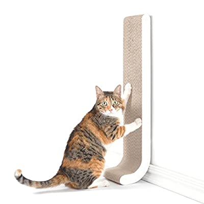 Cat Scratching Post 4CLAWS Wall Mounted Scratching Post 26″ (White) – BASICS Collection Cat Scratcher, 26 x  [tag]