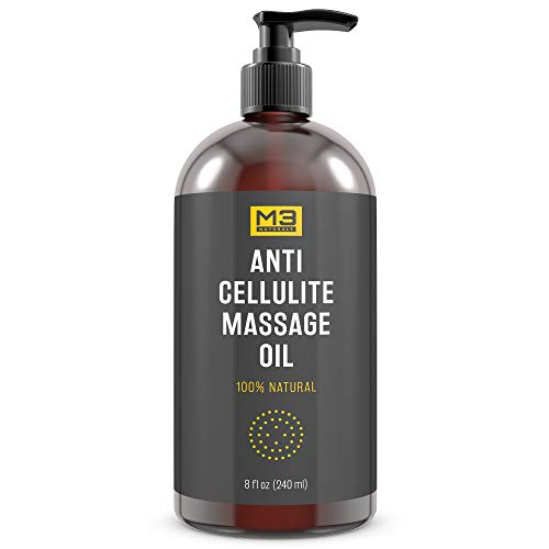 Premium Anti Cellulite Treatment Massage Oil - All Natural Ingredients – Penetrates Skin 6X Deeper Than Cellulite Cream - Targets Unwanted Fat Tissues & Improves Skin (Relax Moisturizing Massage Oil)