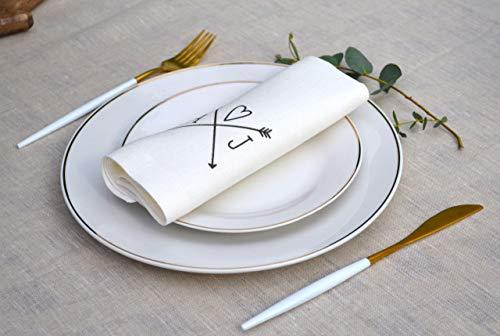 Wedding Linen Napkin - Napkin With Custom Print - Custom Engagement Napkin