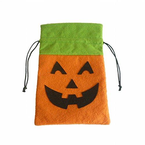 (Taloyer Colth Gift Bag Sweet Holder Beam Pocket Kids Candy Handbag for Halloween Decoration)