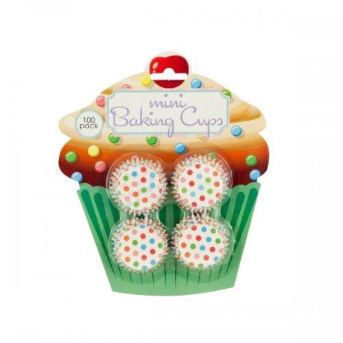 Bulk Buys Mini Polka Dot Print Baking Cups Lot of 24