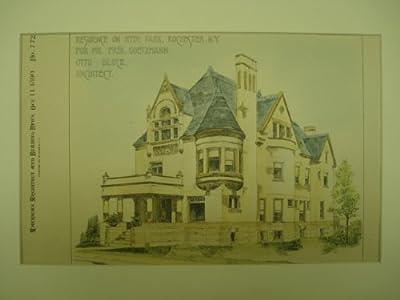 Residence for Mr. Frederick Goetzmann in Hyde Park, Rochester, NY