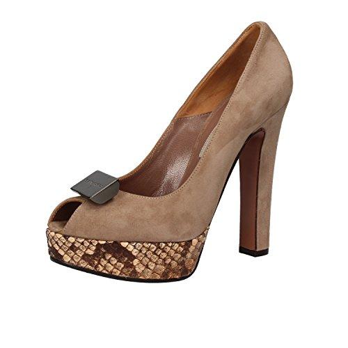 GIANNI MARRA Zapatos de Salón Mujer Beige Gamuza (35 EU)