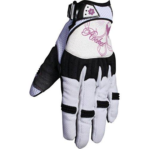 - Joe Rocket Heartbreaker Women's Textile Street Motorcycle Gloves - White/Purple/Medium