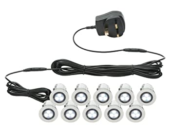 Pack of 10 x 30mm LED Deck Lights