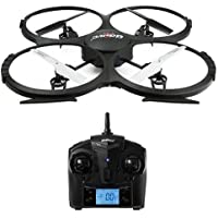 UDI RC Discovery2/U818A Plus FPV Drone with 120 Degree Wide Angle 720p HD Wi-Fi Camera and 2.4GHz Remote Controller