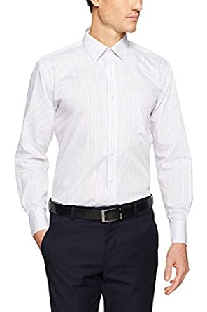 Van Heusen Men's Classic Relaxed Fit Grid Shirt, Lilac, 42