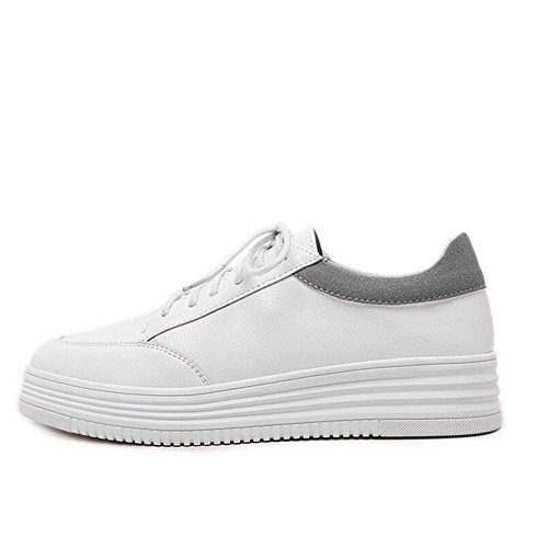 Avec plates Color White gray Versatile Wedges Platform Chaussures Sneaker Little Femmes Casual Matching Chaussures L Noir YC Blanc T4ttP