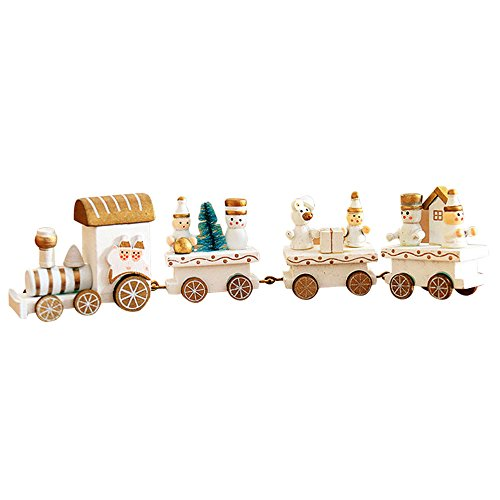 Hot Sales!! ZOMUSA Kids Baby Wood Christmas Train Decoration Christmas Decor Gift (C)