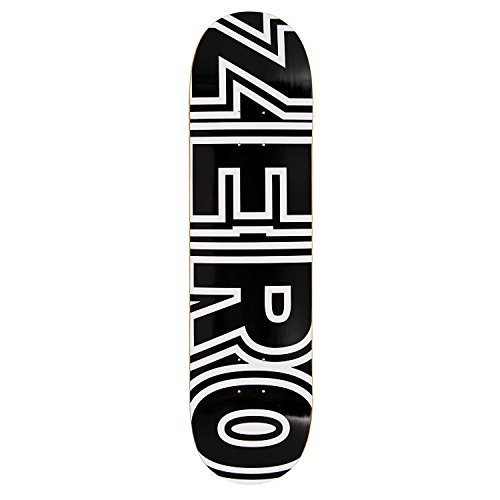 Zero Bold Skateboard Deck - Black/White 8.25'