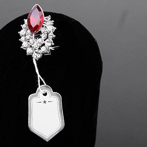 500pcs etiquettes de Prix avec Cordes Suspendues Affichage de Vente de Bijoux OX