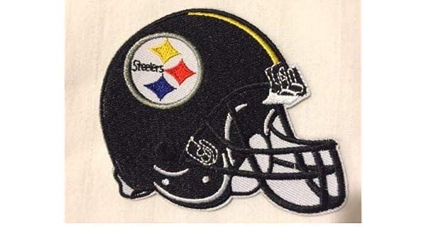 6331c8b735a Amazon.com  Pittsburgh Steelers Helmet Logo NFL Football Hat Shirt Iron On  Jersey Patch  Arts