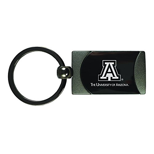 University of Arizona -Two-Toned Gun Metal Key Tag-Gunmetal