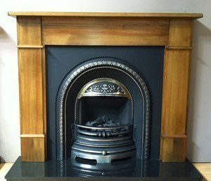 Castec Brompton Flat Victorian Cast Iron Fireplace Package Complete