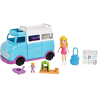 Polly Pocket Active Doll and Vehicle Set: Toys & Games