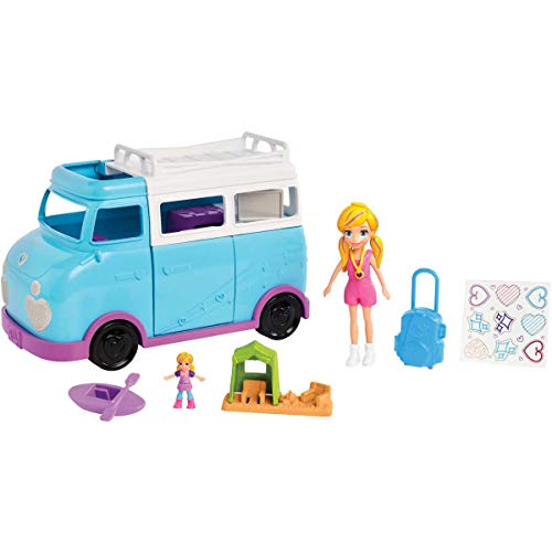- Polly Pocket Active Doll and Vehicle Set