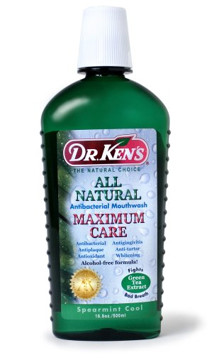 Dr. Ken's All Natural Maximum Care Mouthwash, Spearmint Cool, 16.9-Ounce Bottles (Pack of (Kens Oral Care Spearmint)