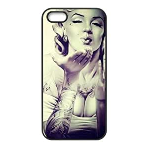 First Design Custom Marilyn Monroe New Style Unique Printed Best Durable SILICONE Iphone 5S Case