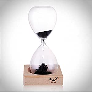 9pig Magnetic Sand Timer Hourglass with Magnetic Iron Filings