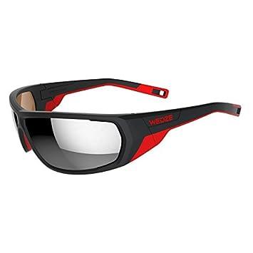 Wedze esquí 700 adulto esquí gafas de sol categoría polarizadas 4 – negro & rojo