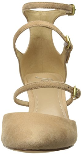 Tacón Vestido Punta Tres Fix para de Cerrada Cooley Mujer Hebilla Mary con Jane para Camel The wnIHS6qw