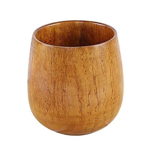 - Dergo ☀Tea Cup Small Handmade Natural Solid Wood Tea Cup Wooden Wine Coffee Water Drinking Mug (D)