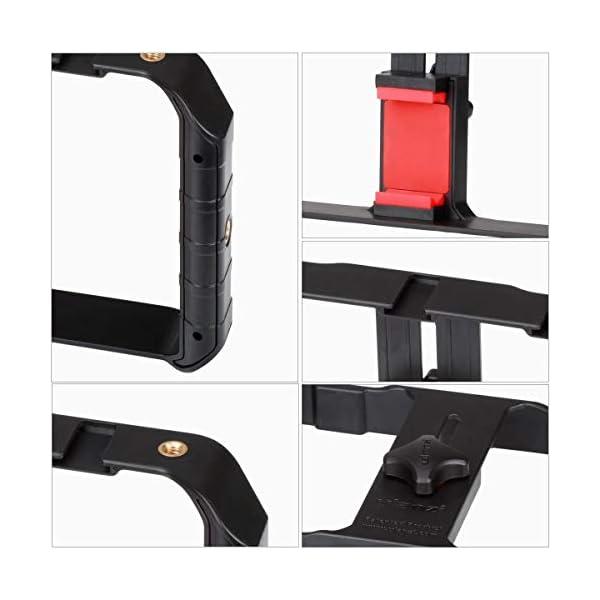 ULANZI U Rig Pro Smartphone Video Rig, iPhone Custodia Filmmaking Case, Phone Video Stabilizzatore Grip Treppiede Mount per Videomaker Film-maker Videografo per iPhone X 8 Plus Sumsang 6 spesavip