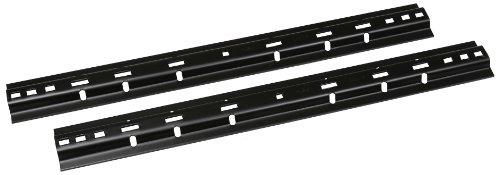 Husky 30686 Black Base Rail, (Box of 2) ()