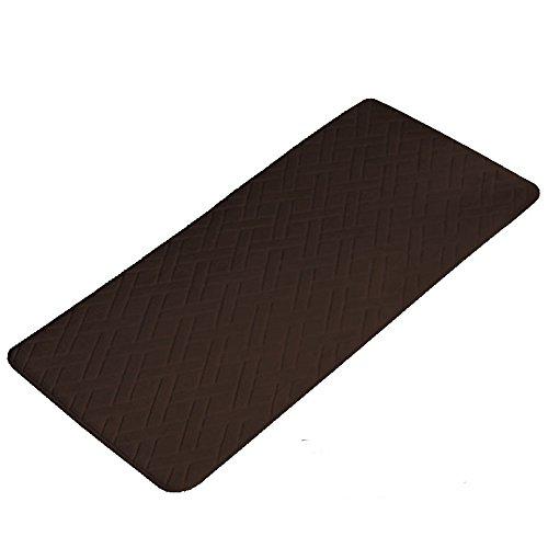 "Generic Non-slip Water-absorbing Memory Foam Bedroom Bathroom Toilet Mat Rug Carpet -Diamond Pattern (20""x59"", Coffee)"
