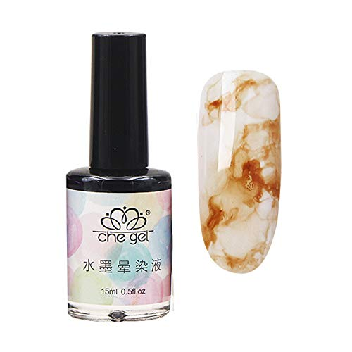 lightclub 15ml Nail Polish Marble Pattern Gradient Color Manicure Ink Smudge Lacquer Decor 11