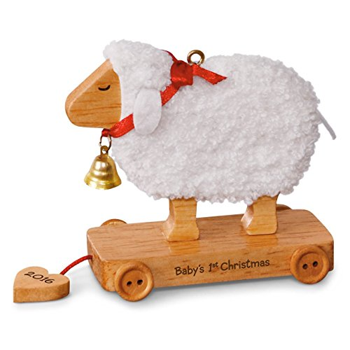 Hallmark Baby's First Christmas Little Lamb Ornament (Babys First Christmas Hallmark Ornament)