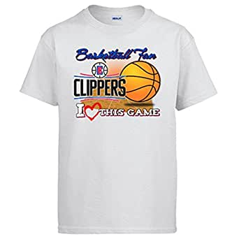 Camiseta NBA Clippers Baloncesto Basketball fan I Love This Game - Blanco, 3-4 años