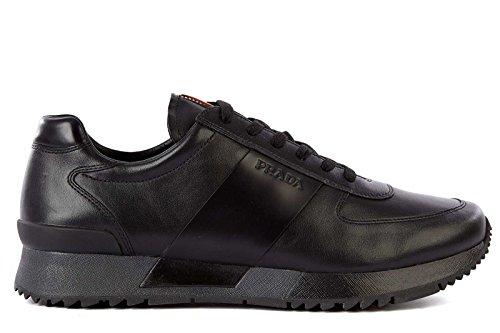 98613b7b Prada Men's Shoes Leather Trainers Sneakers Black - Buy Online in ...