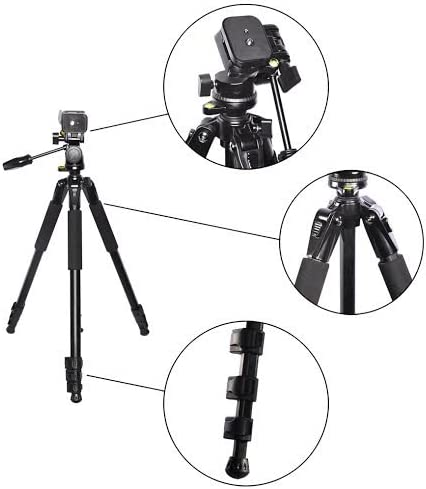 72 Elite Series Pro Heavy Duty Convertible Camera Tripod//Monopod and Large Digital Camera//Video Padded Carrying Bag//Case /& eCostConnection Microfiber Cloth