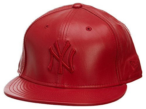 (New Era New York Yankees 59Fifty Basic Scarlet Leather Fitted Cap Size 7 1/2)