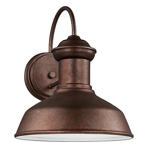 Compliant Dark Fixtures Sky Light (Sea Gull Lighting 8547701-44 Fredricksburg One-Light Outdoor Wall Lantern, Weathered Copper Finish)
