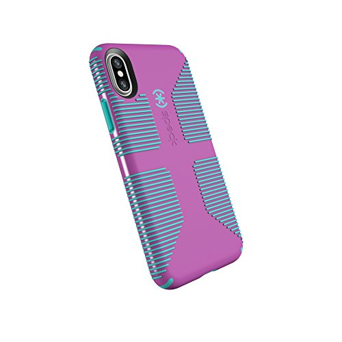Speck Products CandyShell Grip Cell Phone Case for iPhone XS/iPhone X – Beaming Orchid/Mykonos Blue