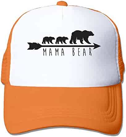 9919d7d5 Li2u-id Mama Bear Adult Men Female Unisex Adjustable Trucker Hat Baseball  Hat Mesh Cap