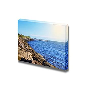Beautiful Scenery Landscape Sea Coast on Sunny Day in Melbourne Australia - Canvas Art Wall Art - 24