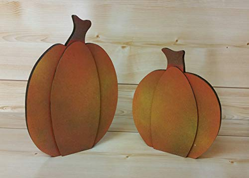 Wooden Fall Pumpkins - Rustic Wood Pumpkins - Fall Decor - Thanksgiving Decor - Set of 2 Pumpkins - Pumpkin Sign - Ideas for -