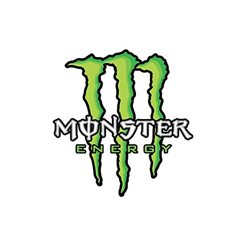 Monster Logo Sticker Decal for Car Window, Bumper, Laptop, Skateboard, Wall, ETC. (5